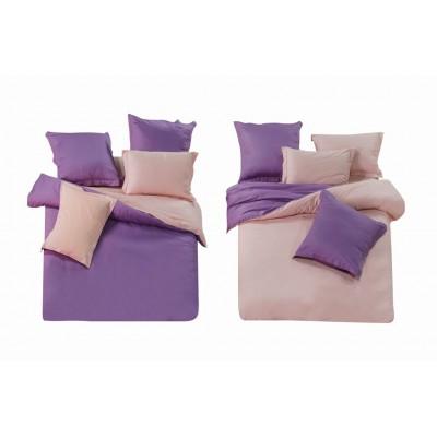 Постельное белье фиолетовое из сатина, артикул L-7
