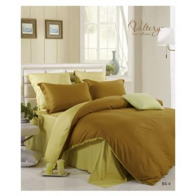 Зеленый с коричневым постельное белье из сатина(100% бамбуковое волокно), артикул BS-09