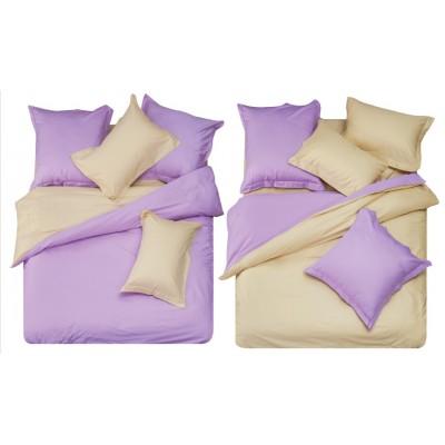 Постельное белье фиолетовое из сатина, артикул L-11