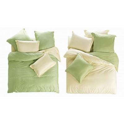 Постельное белье зелено-лимонное из сатина, артикул L-4