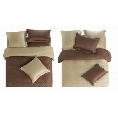 Постельное белье коричневое из сатина, артикул L-5