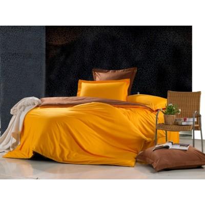 Постельное белье оранжевое из сатина, артикул OD-01