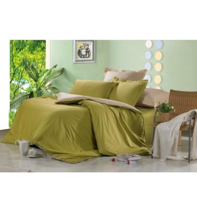 Постельное белье зеленое из сатина, артикул OD-04