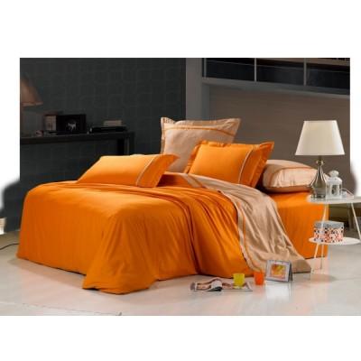 Постельное белье оранжевое из сатина, артикул OD-14