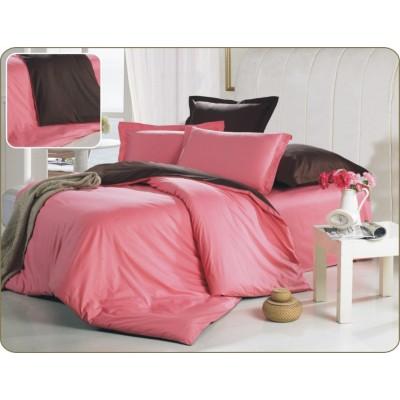 Постельное белье розовое из сатина, артикул OD-18