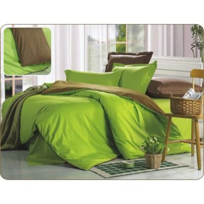 Постельное белье зеленое из сатина, артикул OD-21