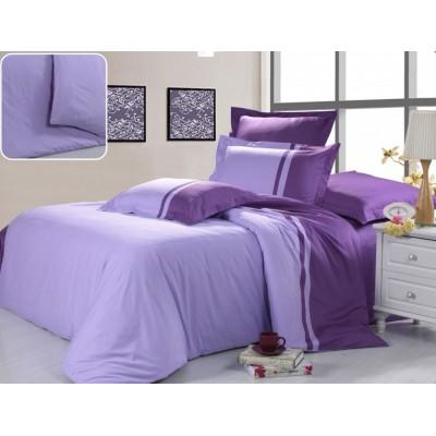 Постельное белье фиолетовое из сатина, артикул OD-25