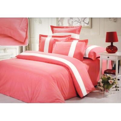 Постельное белье розовое из сатина, артикул OD-28