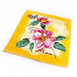 Набор Полотенец ваф. ПИОН желтый-( 3шт. в упаковке )